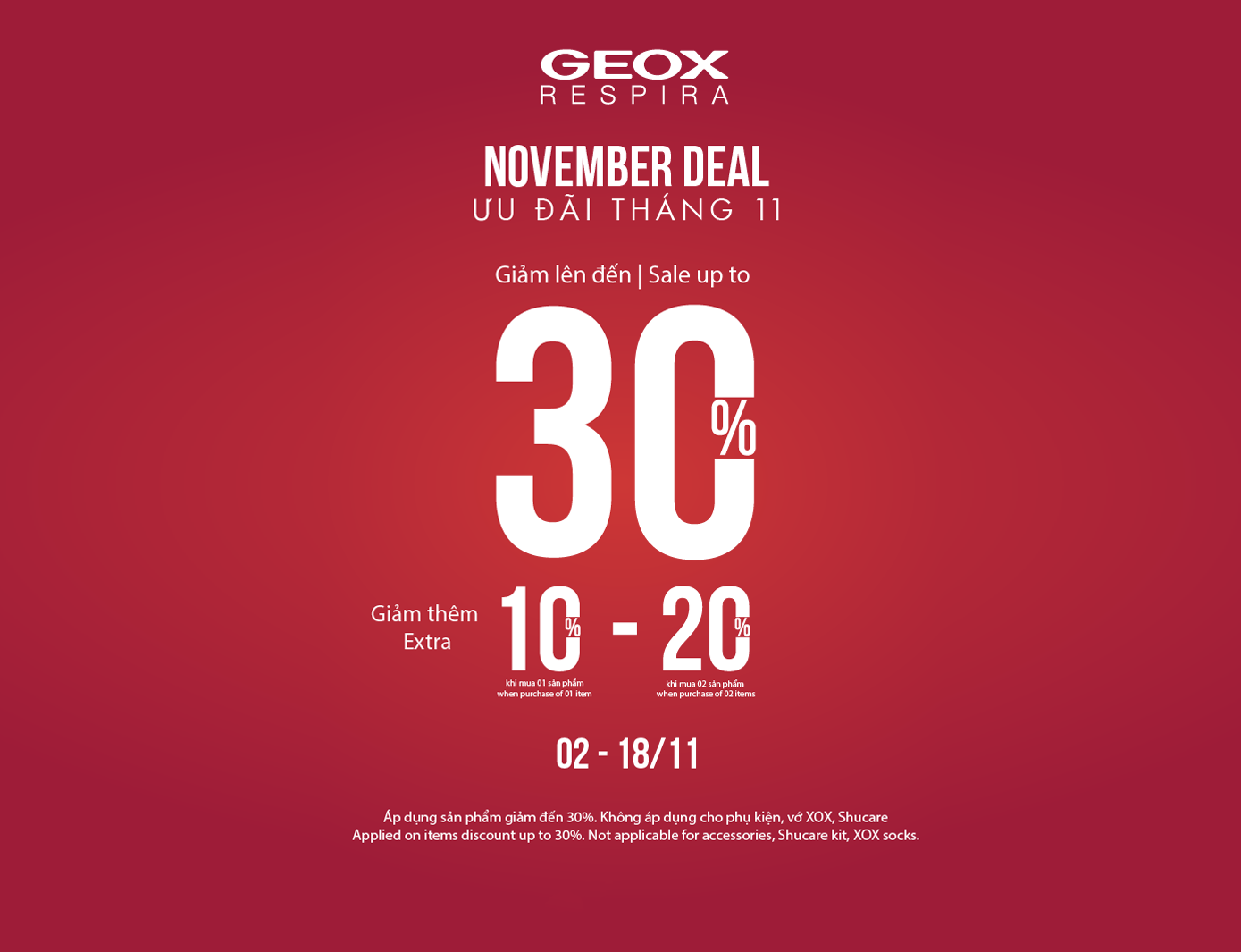 GEOX Hello October – BUY MORE SAVE MORE
